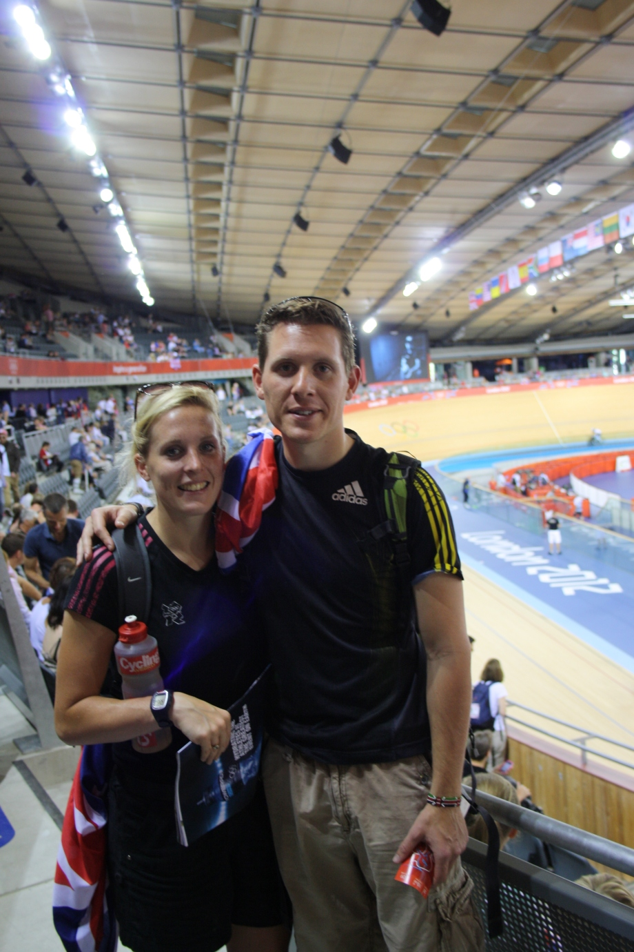 Me and my boyfriend in the Velodrome.